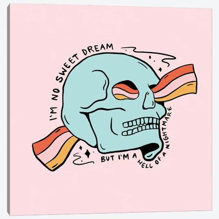 No Sweet Dream Canvas Print #DDM115} by Doodle By Meg Art Print