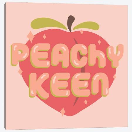 Peachy Keen Canvas Print #DDM118} by Doodle By Meg Canvas Artwork