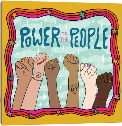 Power To The People Canvas Art Print