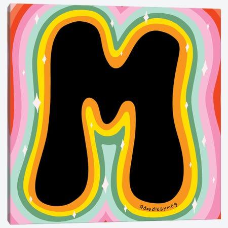 Rainbow M Canvas Print #DDM135} by Doodle By Meg Canvas Art Print