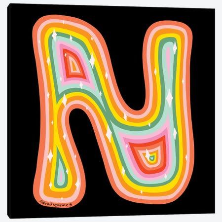 Rainbow N Canvas Print #DDM136} by Doodle By Meg Canvas Art Print