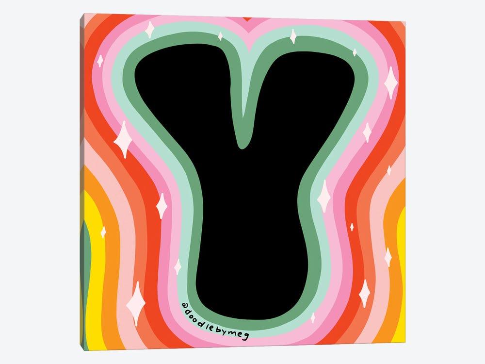 Rainbow Y by Doodle By Meg 1-piece Art Print