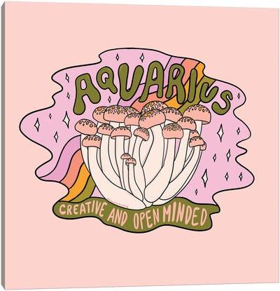 Aquarius Mushroom Canvas Art Print
