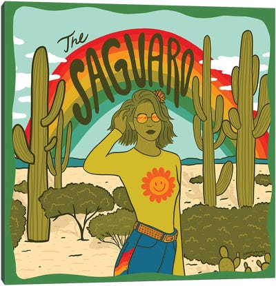 Saguaro Girl Canvas Art Print