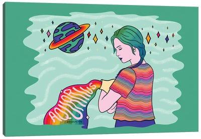 Aquarius Girl Canvas Art Print