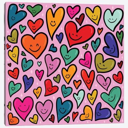 Smiling Heart Print Canvas Print #DDM166} by Doodle By Meg Canvas Artwork