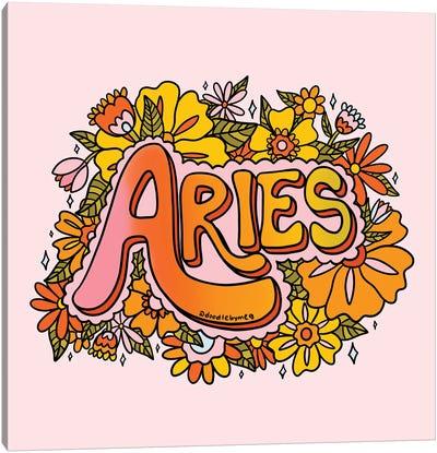 Aries Flower Canvas Art Print