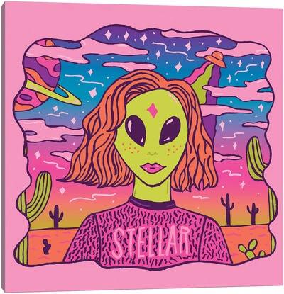 Stellar Girl Canvas Art Print