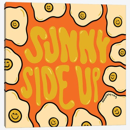 Sunny Side Up Canvas Print #DDM174} by Doodle By Meg Canvas Art Print