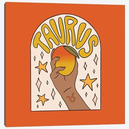 Taurus Mango Canvas Print #DDM178} by Doodle By Meg Canvas Wall Art