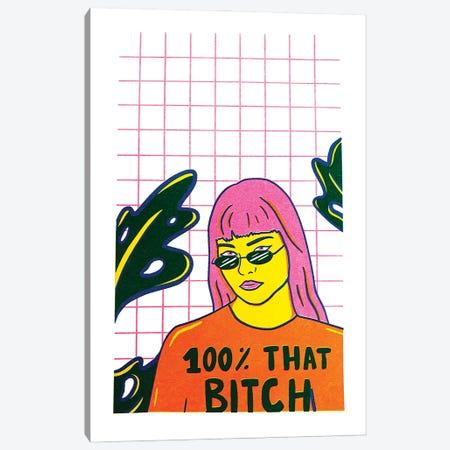 That Bitch Canvas Print #DDM180} by Doodle By Meg Canvas Print