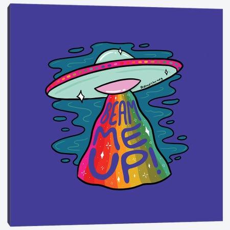 Beam Me Up Canvas Print #DDM20} by Doodle By Meg Art Print