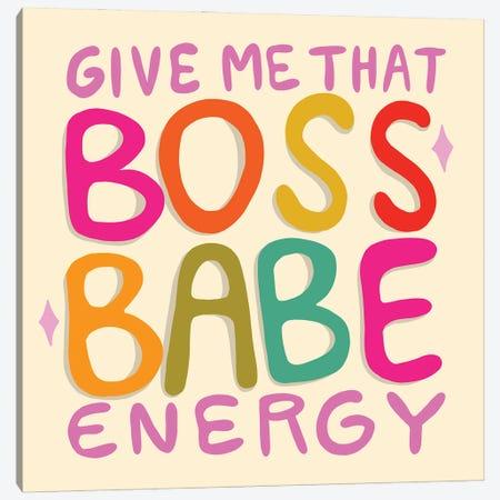 Boss Babe Energy Canvas Print #DDM23} by Doodle By Meg Art Print