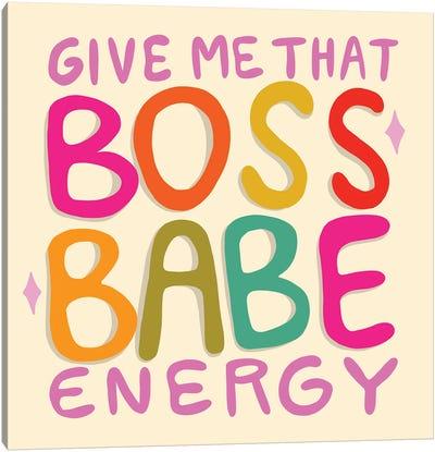 Boss Babe Energy Canvas Art Print