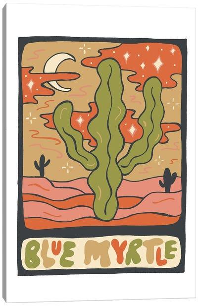 Cactus Tarot Cards- Blue Myrtle Canvas Art Print
