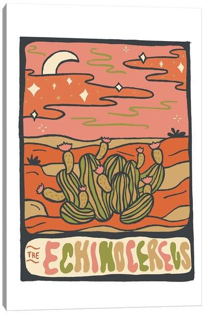 Cactus Tarot Cards- Echinocereus Canvas Art Print