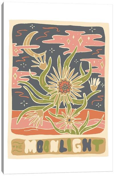 Cactus Tarot Cards- Moonlight Canvas Art Print