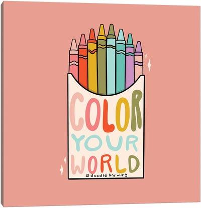 Color Your World Canvas Art Print