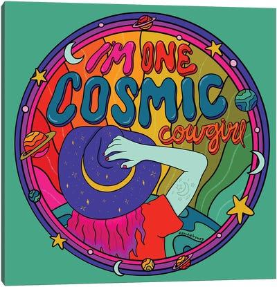 Cosmic Cowgirl Canvas Art Print