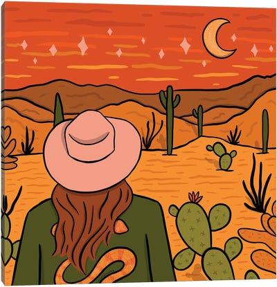 Desert Girl Canvas Art Print