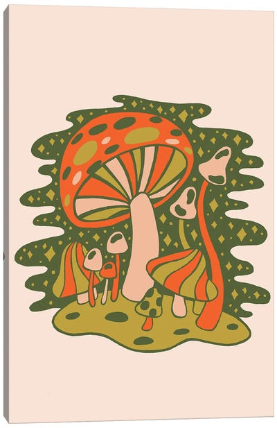 Forest Of Mushrooms Canvas Art Print
