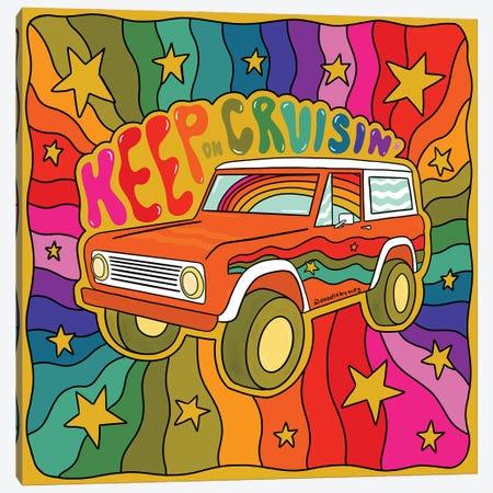 Keep On Cruisin' Canvas Print #DDM81} by Doodle By Meg Art Print