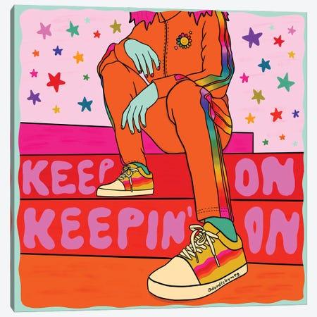 Keep On Keepin' On Canvas Print #DDM83} by Doodle By Meg Canvas Art Print