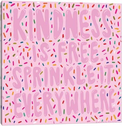 Kindness Sprinkles Canvas Art Print