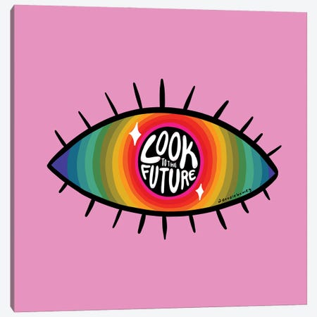 Look To The Future Canvas Print #DDM96} by Doodle By Meg Art Print