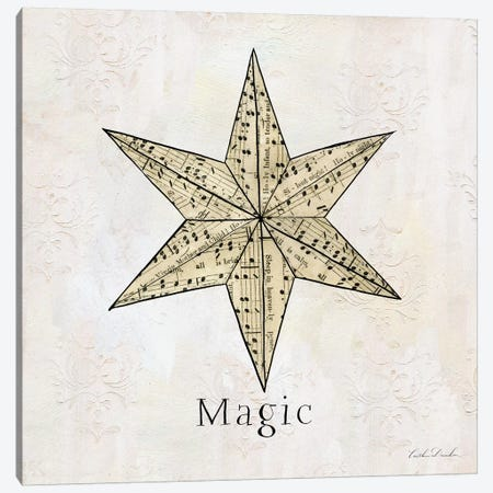 Vintage Christmas Magic Canvas Print #DDN3} by Caitlin Dundon Canvas Art