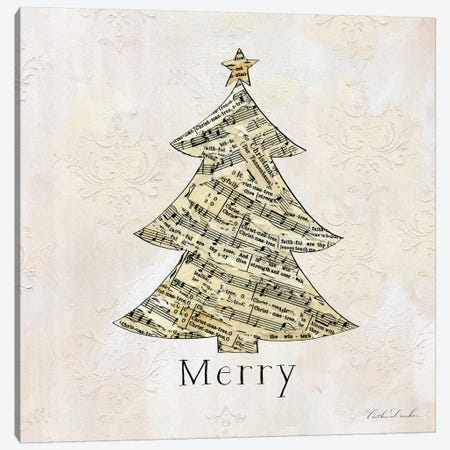 Vintage Christmas Merry Canvas Print #DDN4} by Caitlin Dundon Art Print