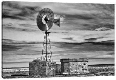 B&W Desert View VI Canvas Art Print