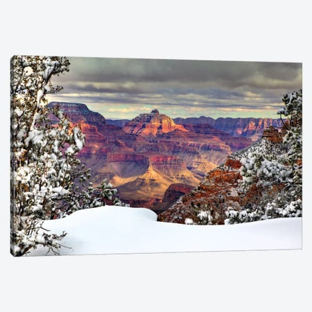 Snowy Grand Canyon I Canvas Print #DDR18} by David Drost Canvas Art Print