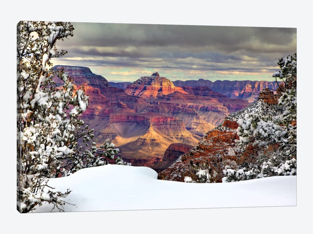 Snowy Grand Canyon I by David Drost 1-piece Canvas Artwork