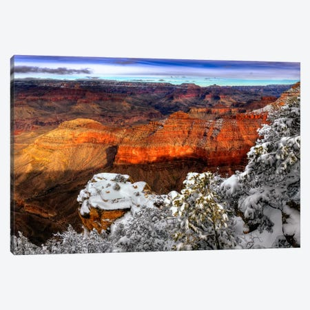 Snowy Grand Canyon IV Canvas Print #DDR21} by David Drost Canvas Art