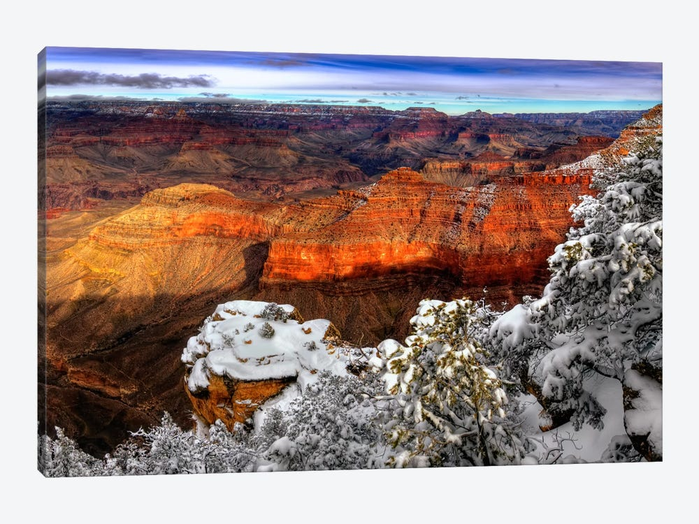 Snowy Grand Canyon IV by David Drost 1-piece Canvas Art