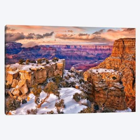Snowy Grand Canyon V Canvas Print #DDR22} by David Drost Canvas Art