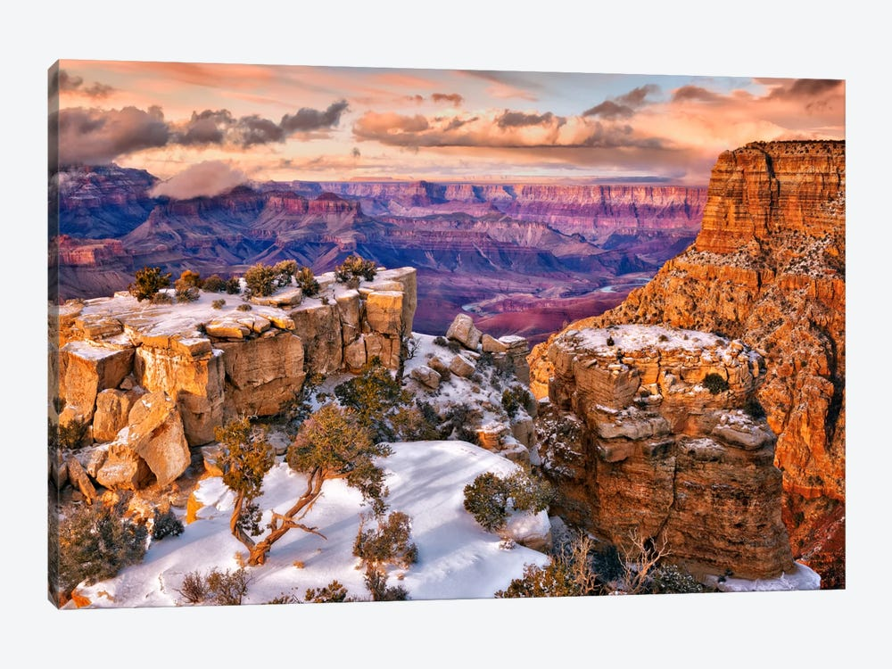 Snowy Grand Canyon V by David Drost 1-piece Canvas Art Print
