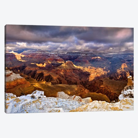 Snowy Grand Canyon VI Canvas Print #DDR23} by David Drost Canvas Artwork