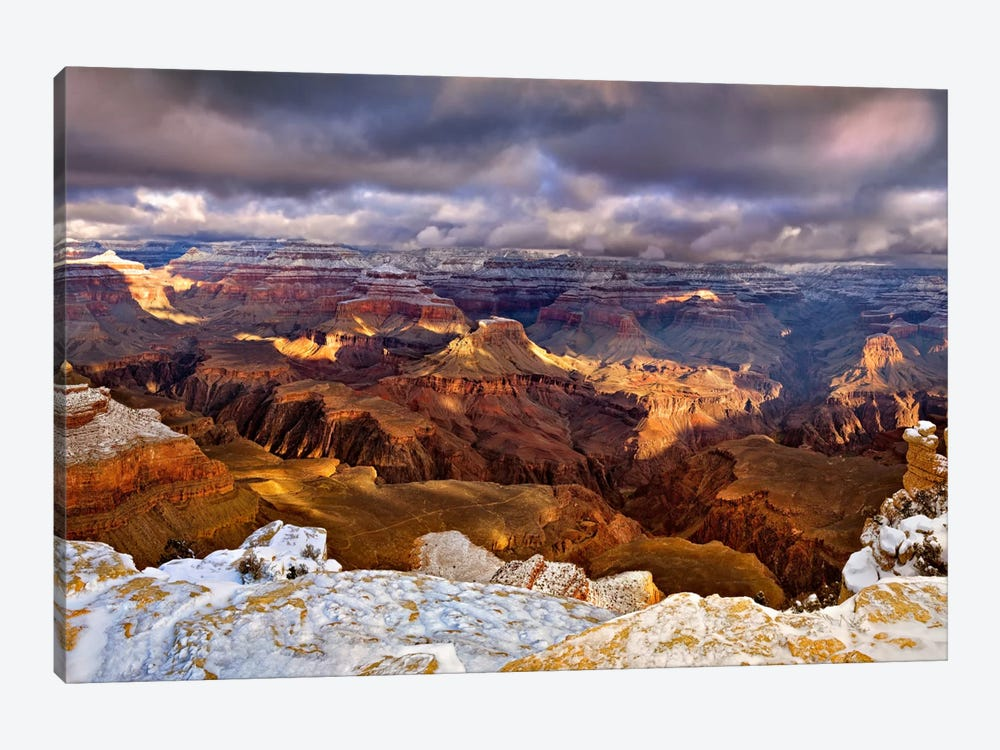 Snowy Grand Canyon VI by David Drost 1-piece Canvas Artwork