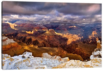 Snowy Grand Canyon VI Canvas Art Print