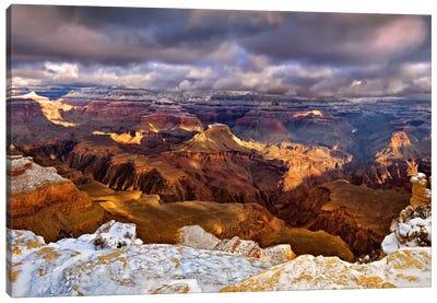 Snowy Grand Canyon VI Canvas Art Print
