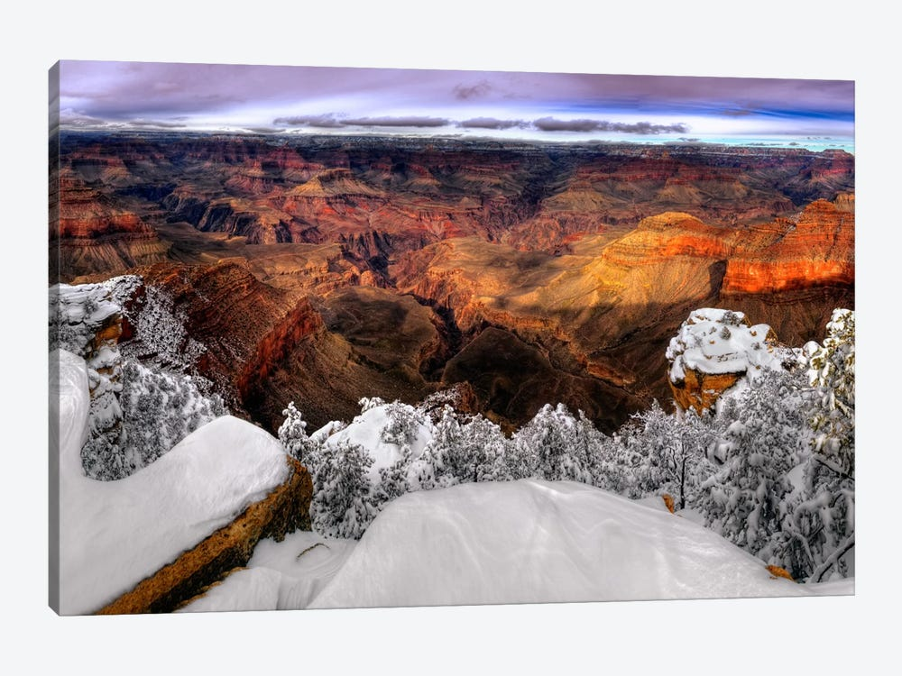 Snowy Grand Canyon VII by David Drost 1-piece Canvas Print