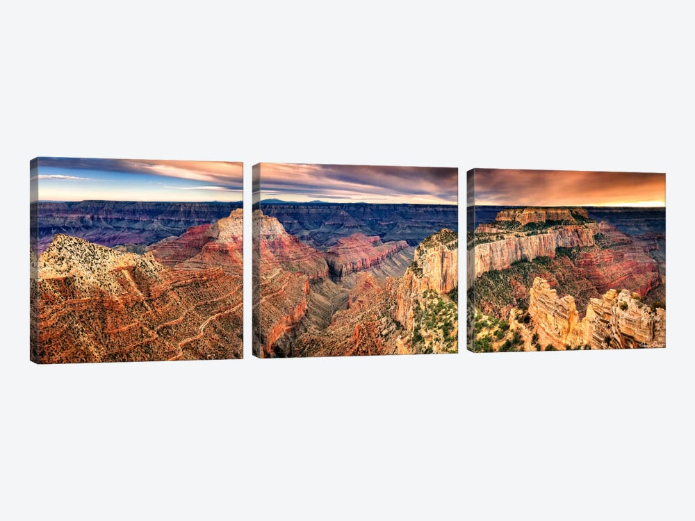 Canyon View XII by David Drost 3-piece Canvas Art