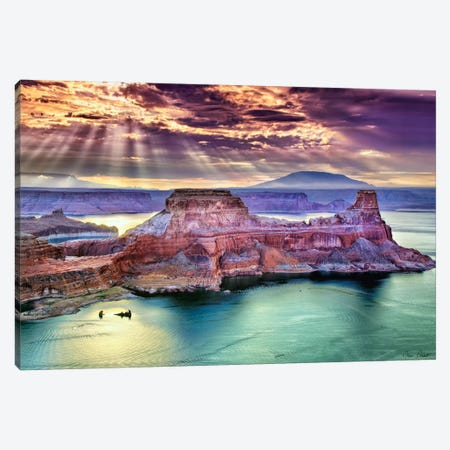 Lake Canyon View II 3-Piece Canvas #DDR40} by David Drost Canvas Art