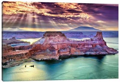Lake Canyon View II Canvas Art Print