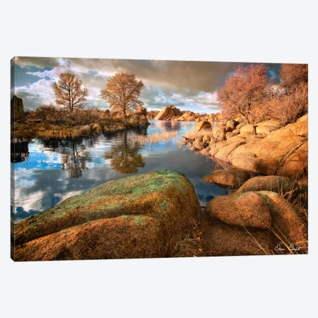 Rocky Lake I Canvas Print #DDR51} by David Drost Canvas Art Print