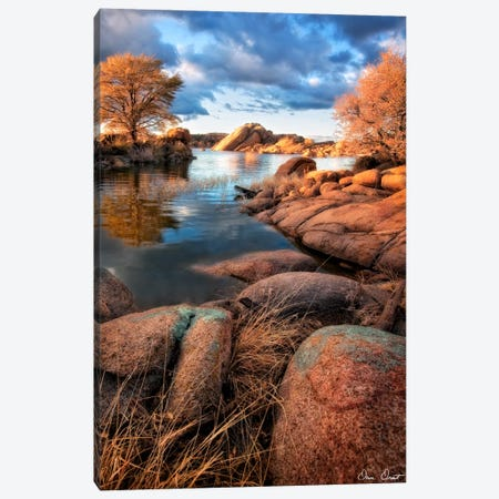 Rocky Lake II Canvas Print #DDR52} by David Drost Art Print