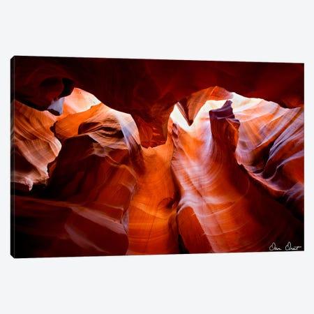 Sun Shining Through Canyon VII Canvas Print #DDR59} by David Drost Art Print