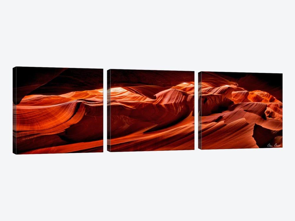 Sun Shining Through Canyon VIII by David Drost 3-piece Canvas Art Print